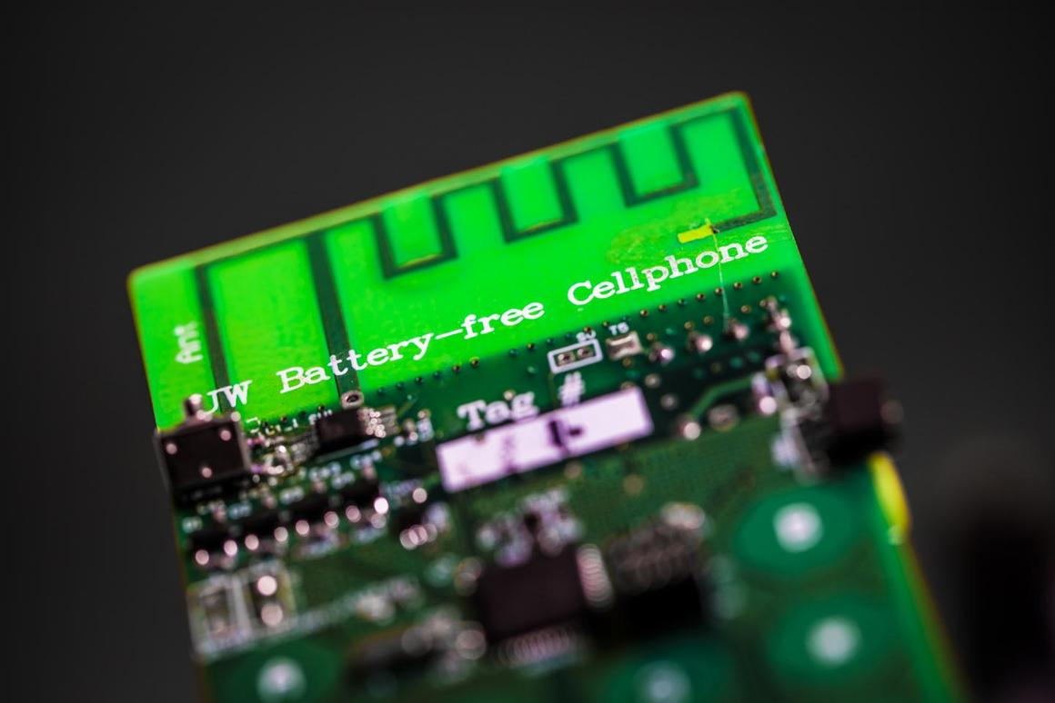 UW engineers have designed the first battery-free cellphone that can send and receive calls using only a few microwatts of power
