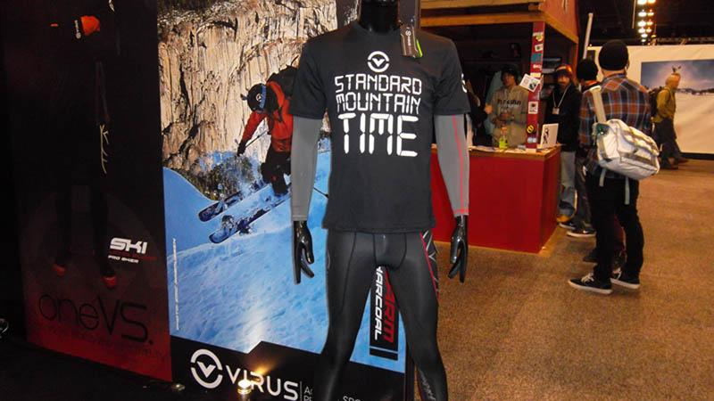 Virus Action Sport Performance showed its Stay Warm line at SIA this week (in the Central time zone)