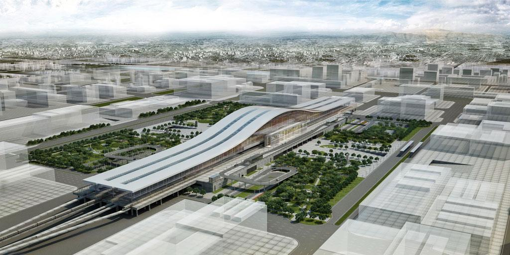 """The Astana Train Station, Kazakhstan, by Tabanlıoğlu Architects, was a winner at the 2018 International Architecture Awards under the """"Airports and Transportation Centres"""" category"""
