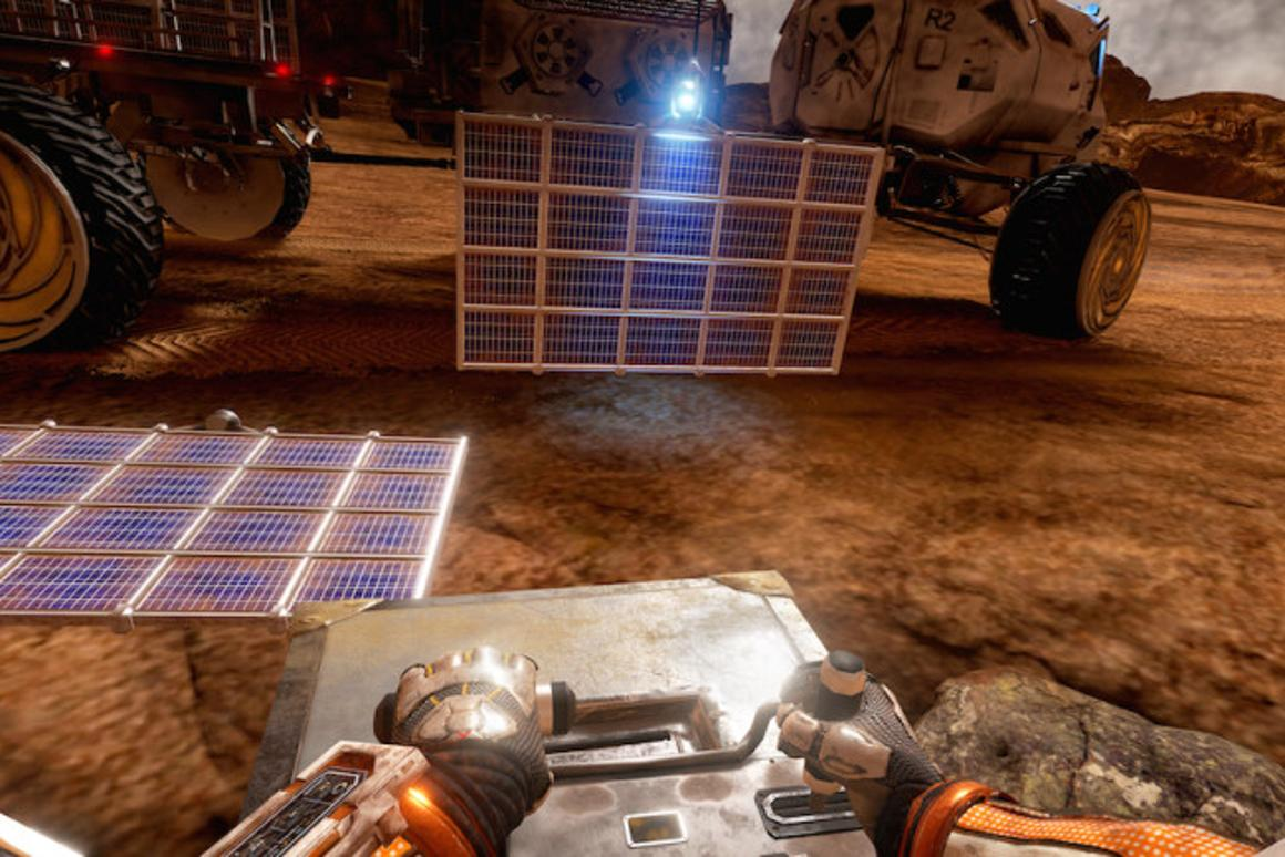 The Martian: VR Experience puts you inside Mark Watney's and let's you do all the boring things he does.