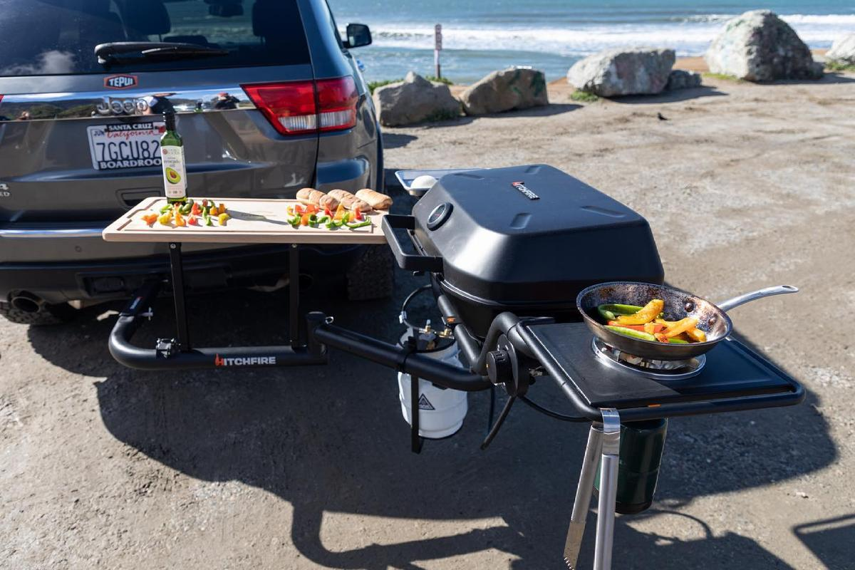HitchFire adds even more cooking power to the vehicle hitch
