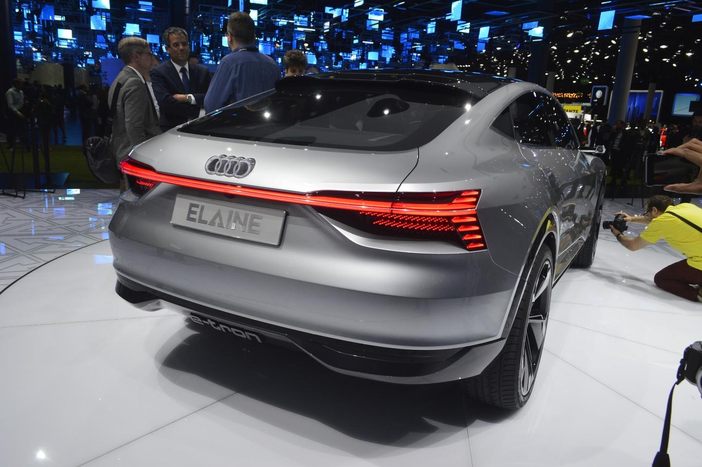 The shapely rear end of the Audi Elaine concept