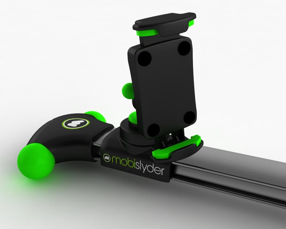 The mobislyder has five different mounts available, which should accommodate most smartphones and pocket camcorders