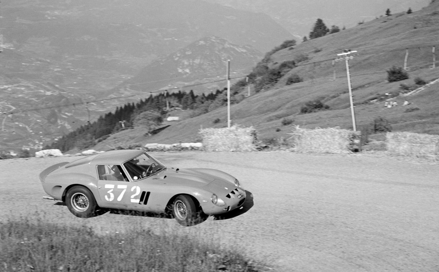 This is theFerrari 250 GTO that isfor sale in Monterey, pictured in period