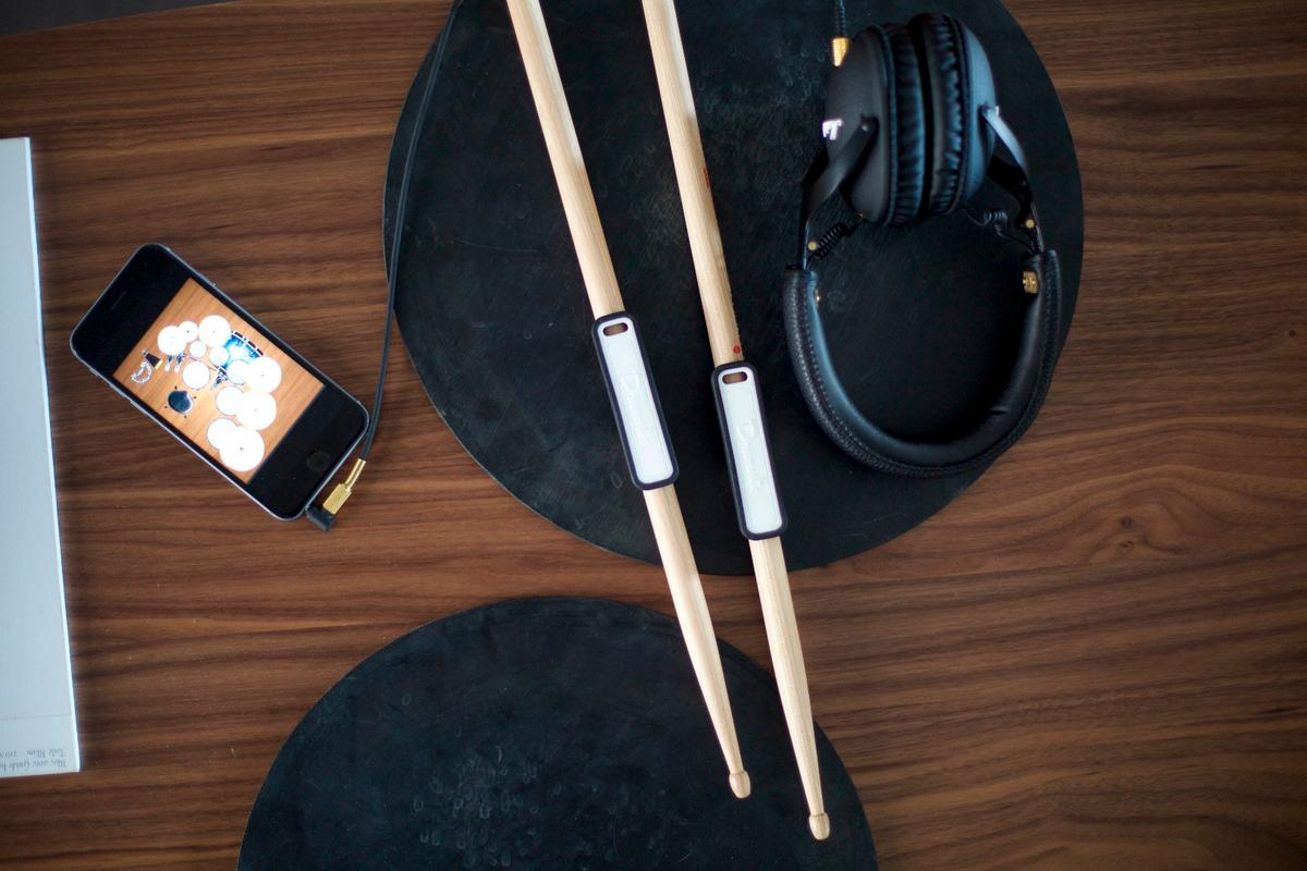 The Drumistic system is designed to make kit-less drumming more engaging than air drumming or tabletop finger tapping