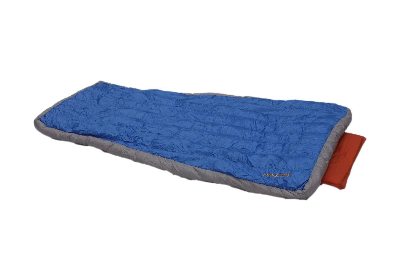 The new Brooks-Range Cloak is a lightweight DownTek sleeping quilt that weighs as little as 13 oz. (369 g)