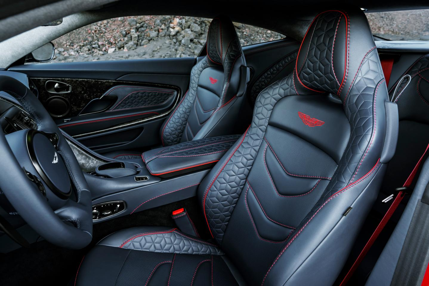 The DBS interior uses reams of Bridge of Weir leather, from hairy Highland cows