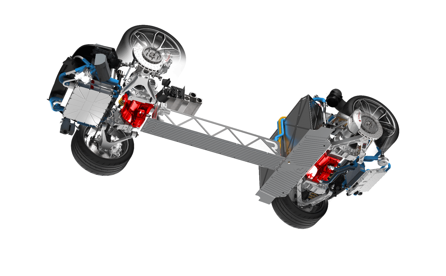 The Concept_One's drivetrain is based around four permanent magnet motors
