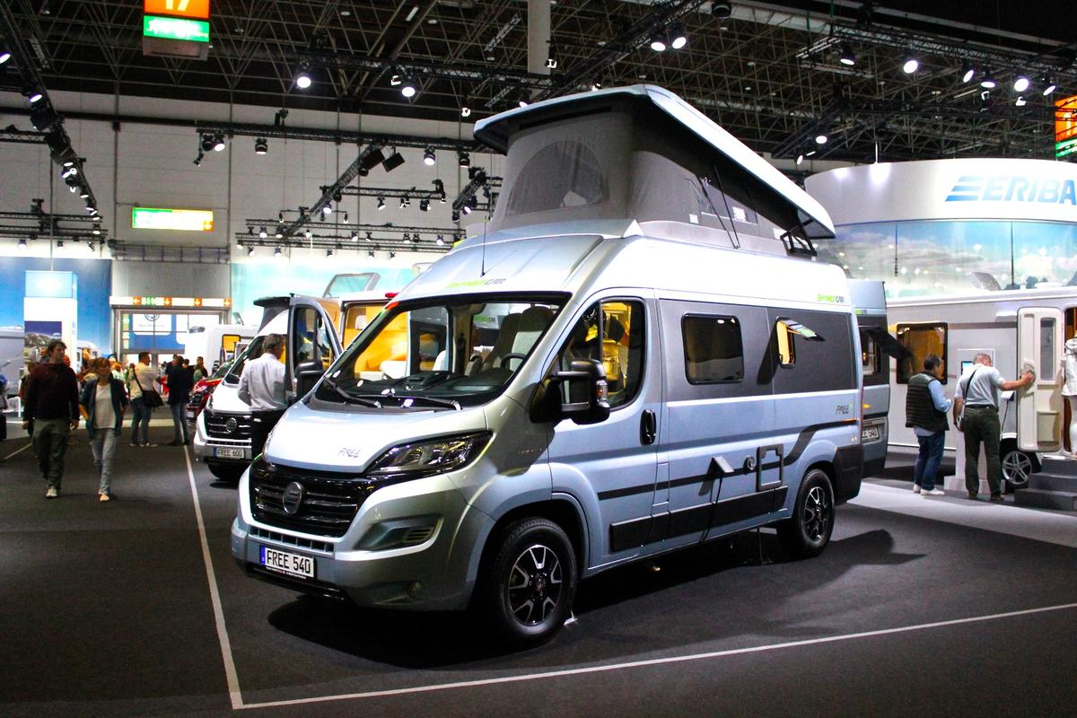 Hymer's Free series is built on two chassis available in both Europe and North America: the pictured Fiat Ducato/Ram Promaster and the Mercedes Sprinter