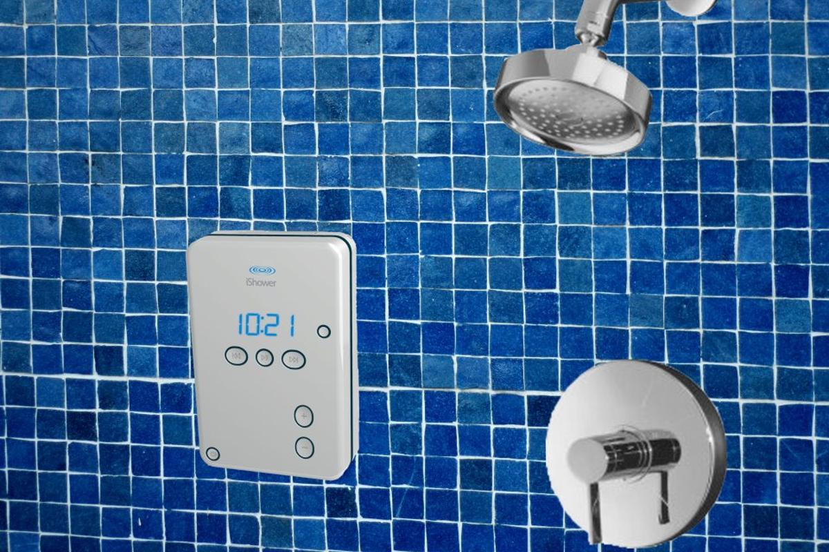 "The iShower from iDevices is a bluetooth-enabled water resistant speaker for ""aqua-centric environments"""