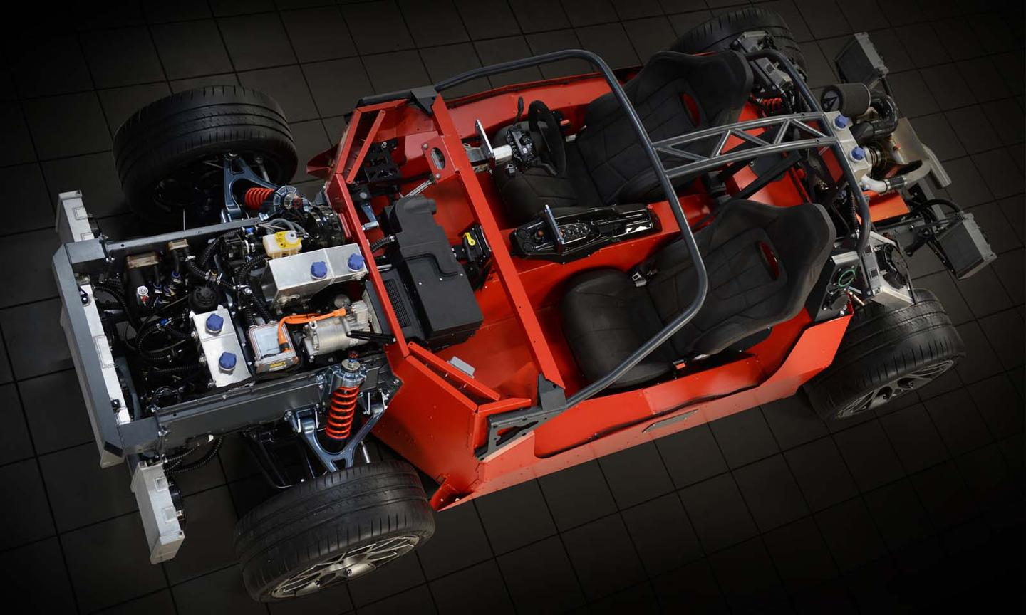 A look at the chassis and powertrain of the ArielHIPERCAR