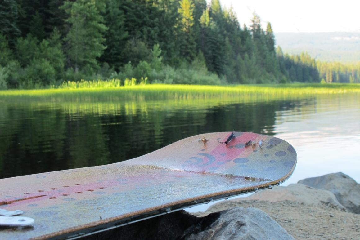 The Signal Snowboards fly fishing board provides entertainment throughout the year