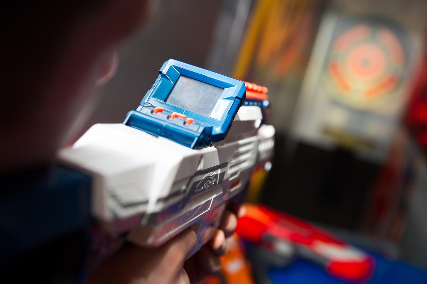 The N-Strike Elite Nerf Cam ECS-12 Blaster has a built-in camera and screen (Photo: Hasbro/Invision)