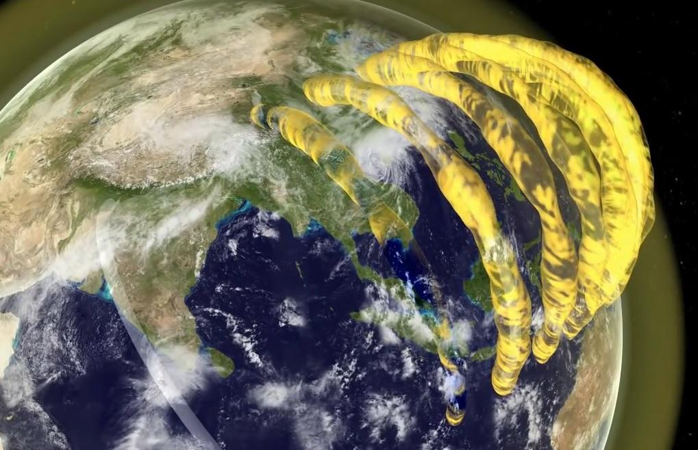 Enormous plasma pipes above the Earth are created when ionizing radiation from the sun strikes atoms in the ionosphere