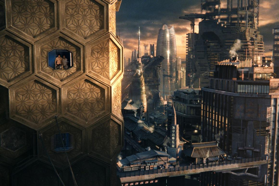 The future city in the film Cloud Atlas