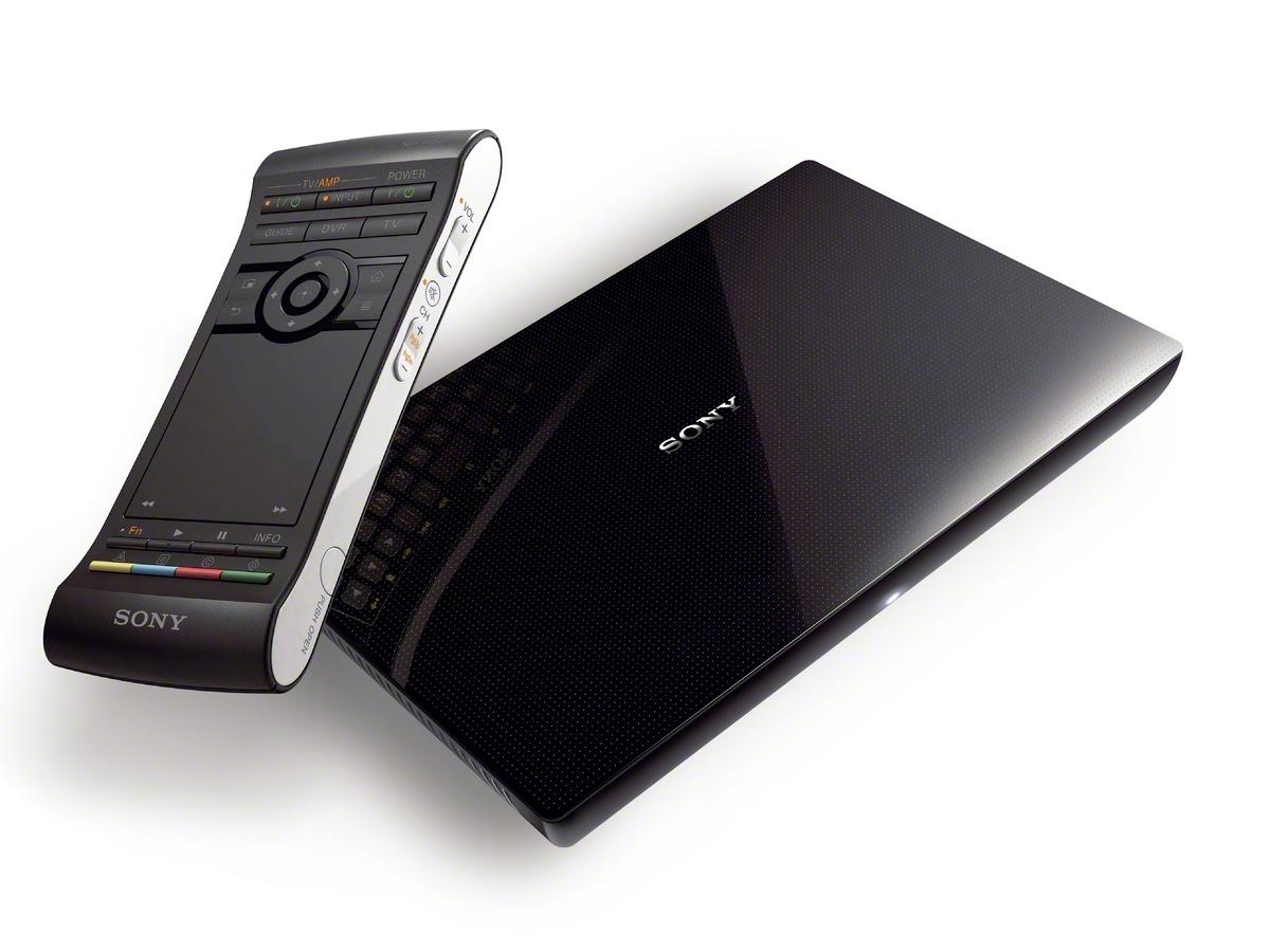 The Sony NSZ-GS7 Google TV box has a redesigned remote with touchpad and QWERTY keypad