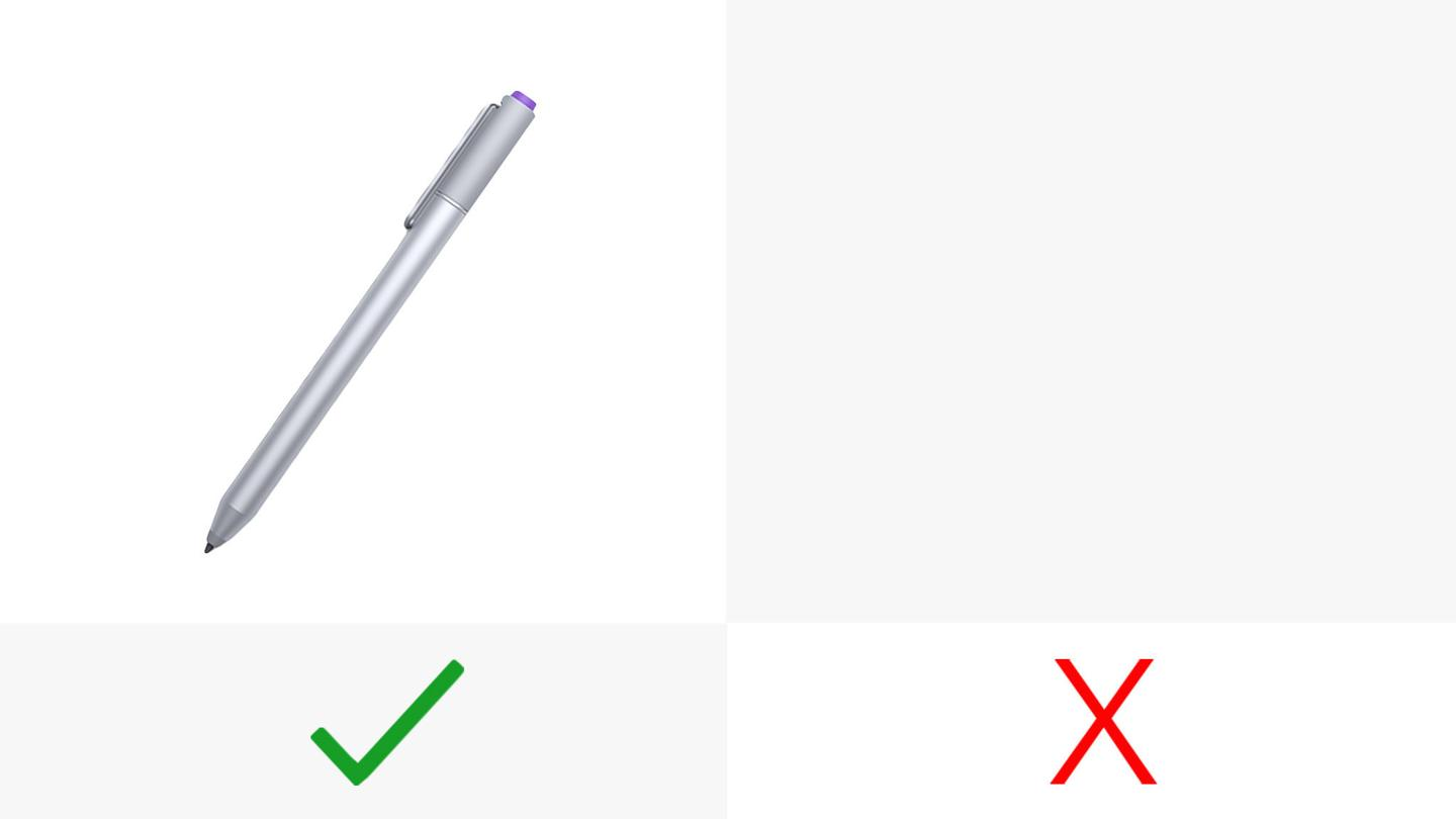 The Surface uses a stylus, the MacBook doesn't