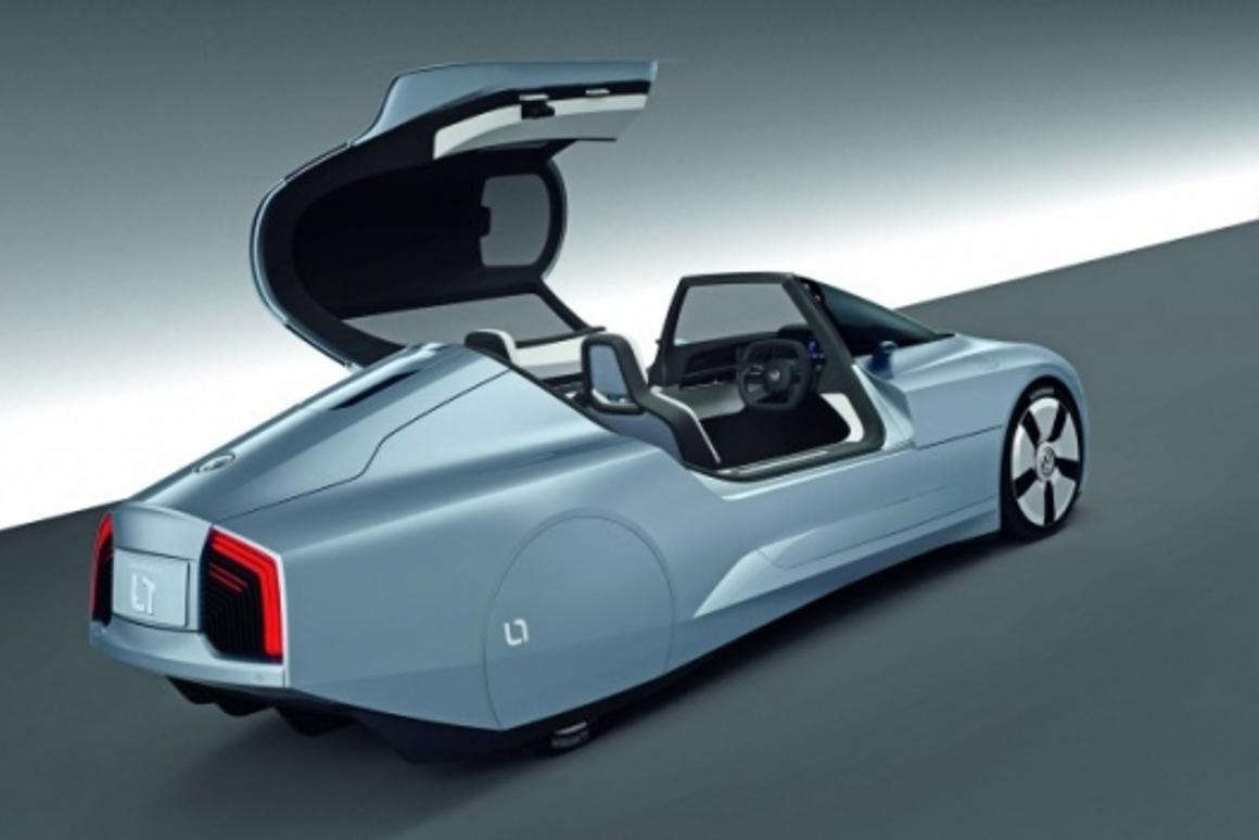 Feather-light and with miniscule drag, the Volkswagen L1 will be the most fuel-efficient car made
