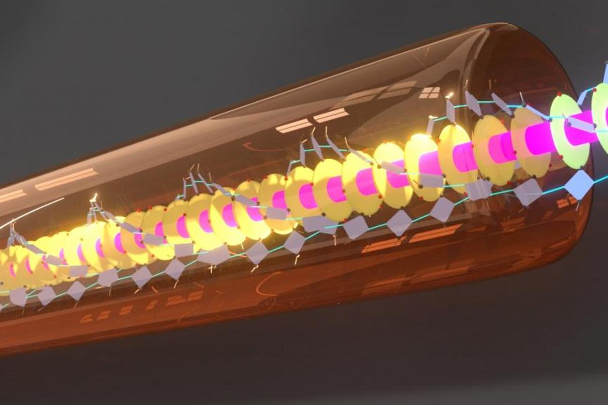 Researchers have created a super-efficient light-energy transport conduit that exhibits almost zero loss