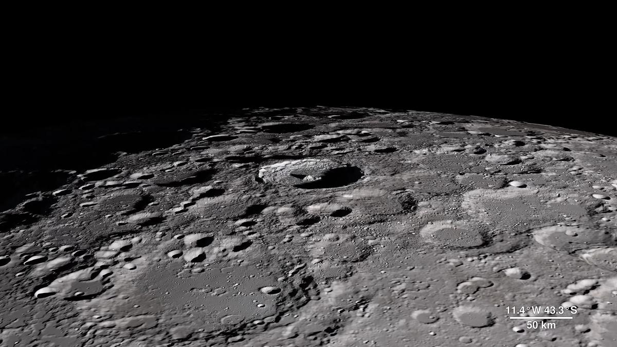 A still image of the Tycho Crater