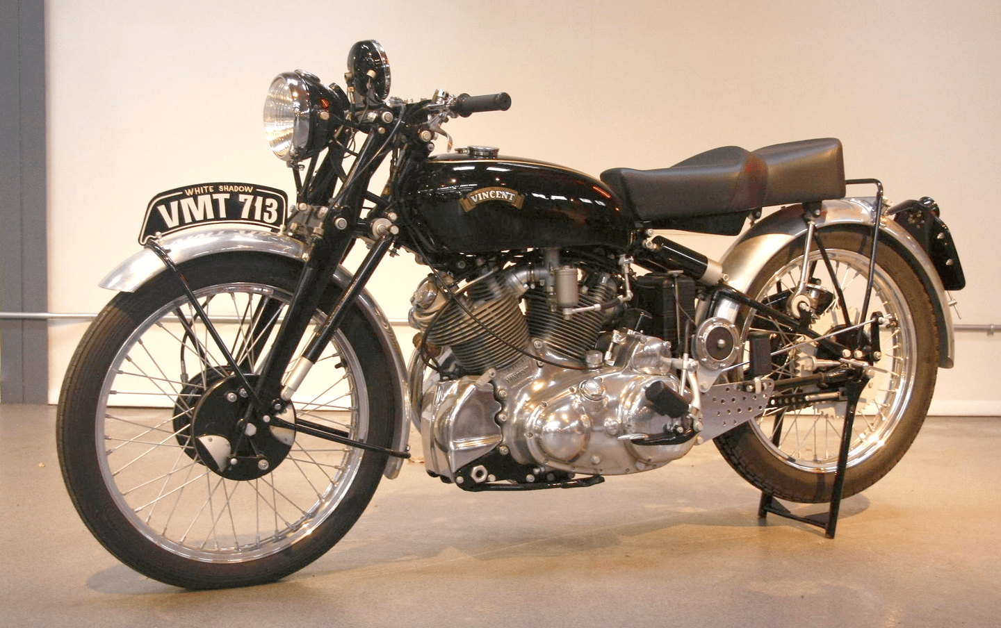 One of only 15 ever produced, this 1950 Vincent Series C White Shadow was sold for US$111,150 at the Quail Motorcycle Gathering in May, 2009. A complete restoration and return to absolute originality ensued, resulting in the bike fetching US$224,250 at auction on January 9, 2015.