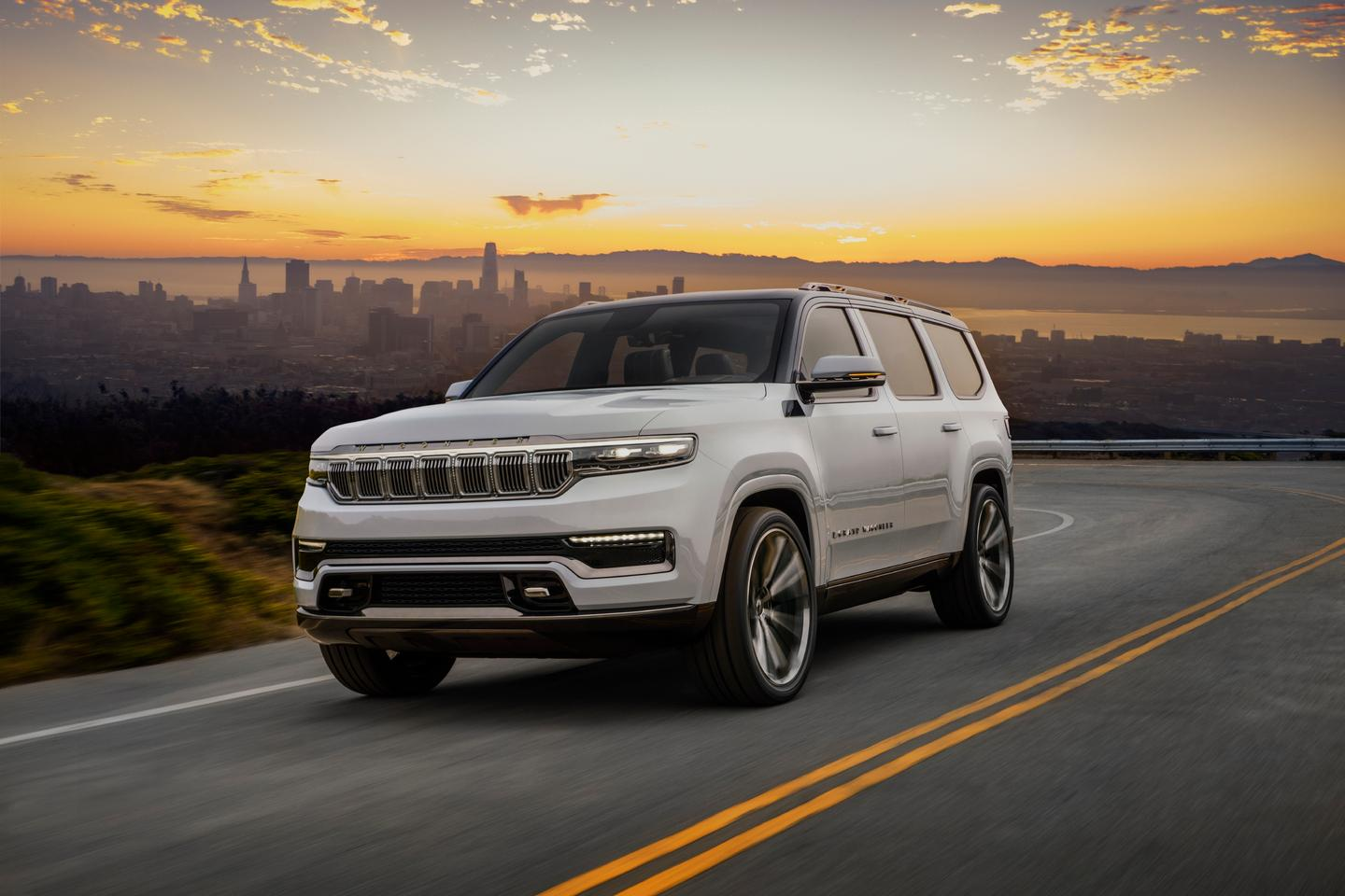 "The Jeep Grand Wagoneer Concept introduces both a production-ready vehicle and the concept of ""Wagoneer"" as a premium label for the Jeep brand"