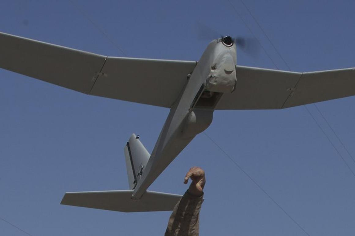 BP has been authorized to fly a Puma AE UAV similar to this one, used by the US Marine Corps in Afghanistan (Photo: Sgt. Bobby Yarbrough/USMC)