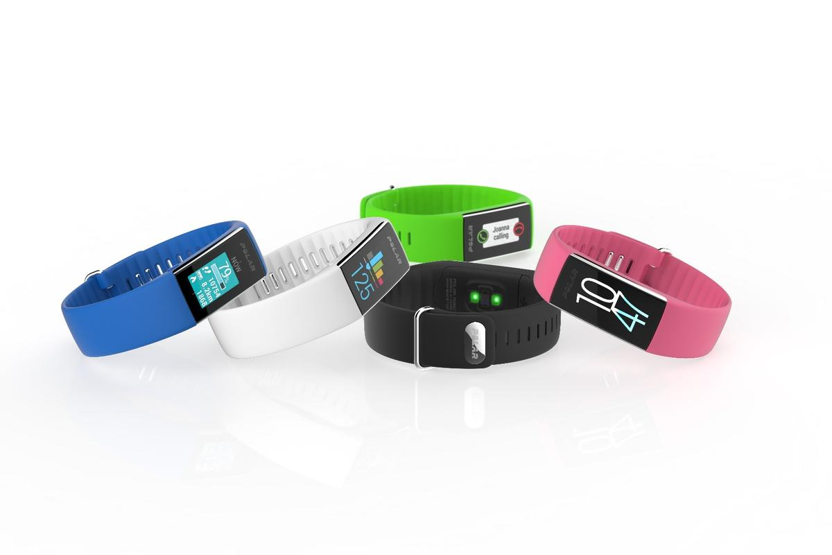 The Polar A360 fitness tracker will be available in a variety of colors with interchangeable bands