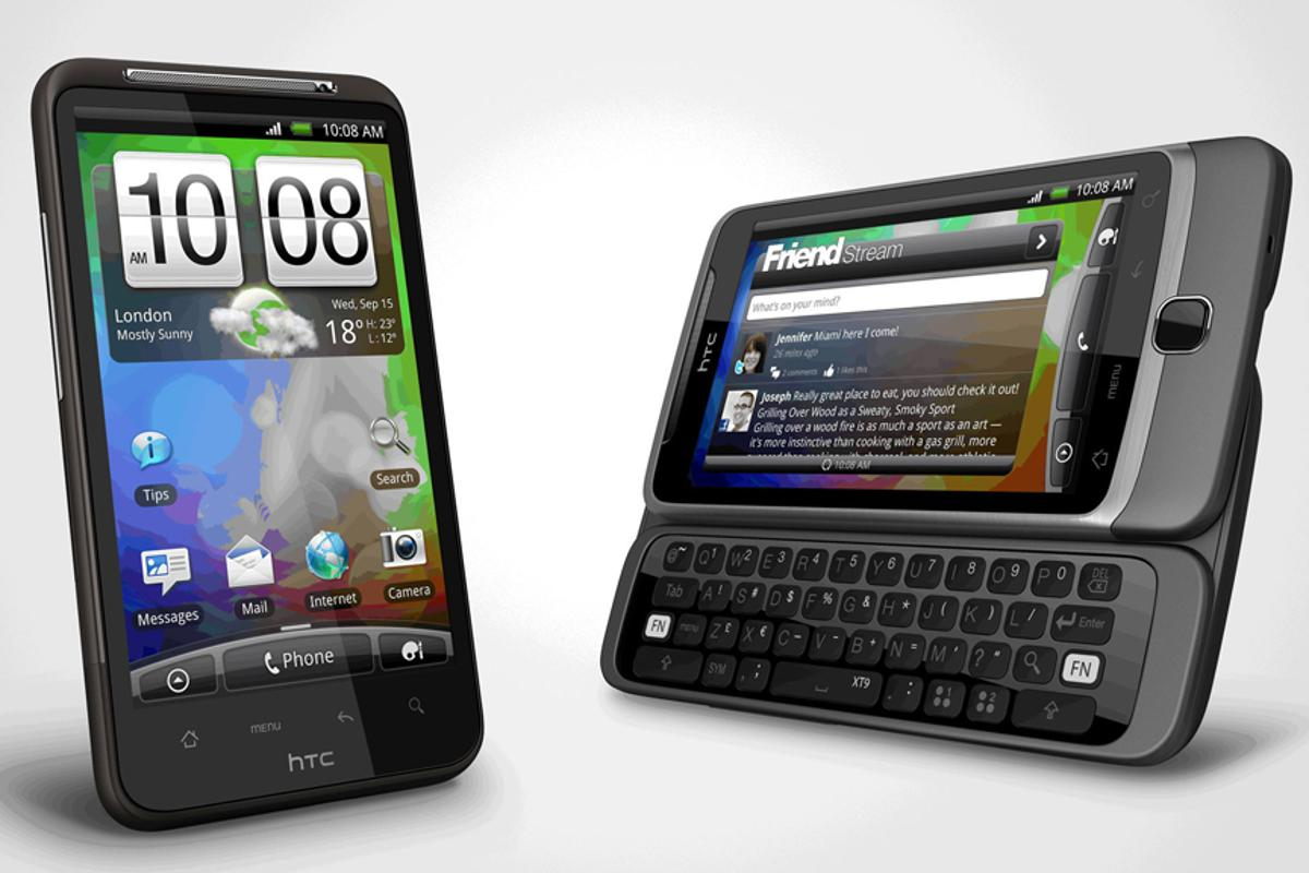 The upsized HTC Desire HD and QWERTY slider HTC Desire Z