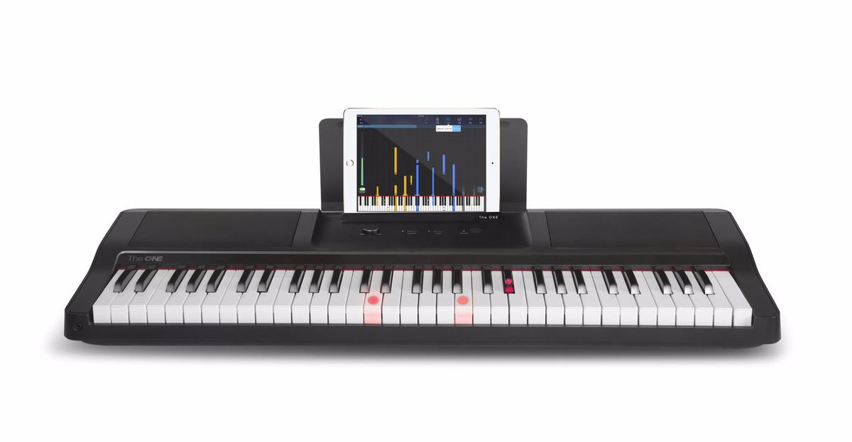 The One Smart Light Piano system teaches by lighting up the keys