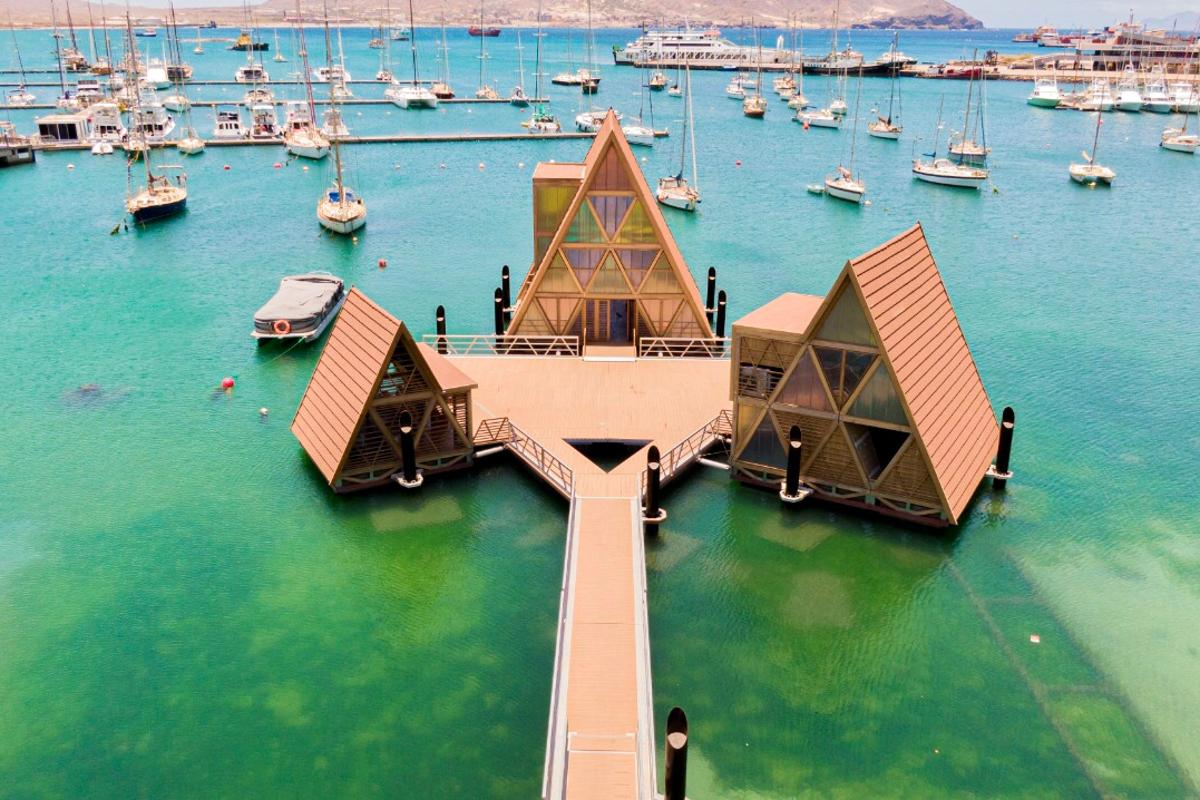 The Floating Music Hub is located in Mindelo, São Vicente, Cape Verde
