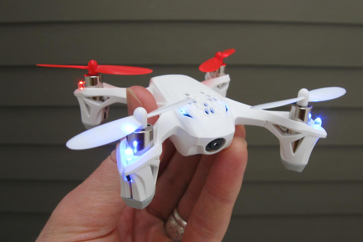 The Hubsan X4 FPV is likely the world's smallest quadcopter that can be flown by first-person-view