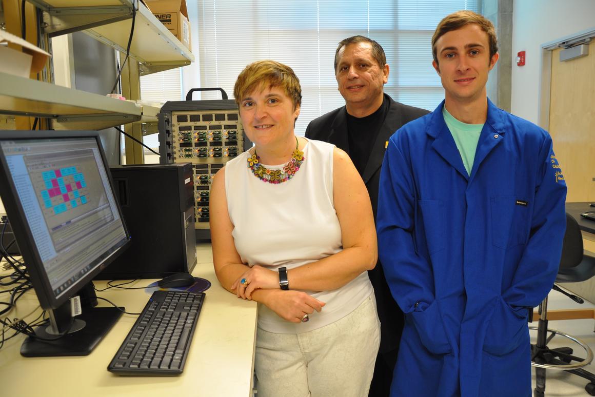 From left, supercapacitor developers Mihrimah Ozkan, Cengiz Ozkan and Zachary Favors (Photo: UCR)