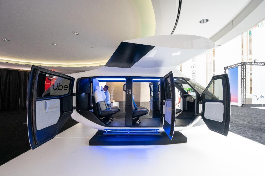 Uber has revealed a conceptual passenger cabin for its Uber Air service