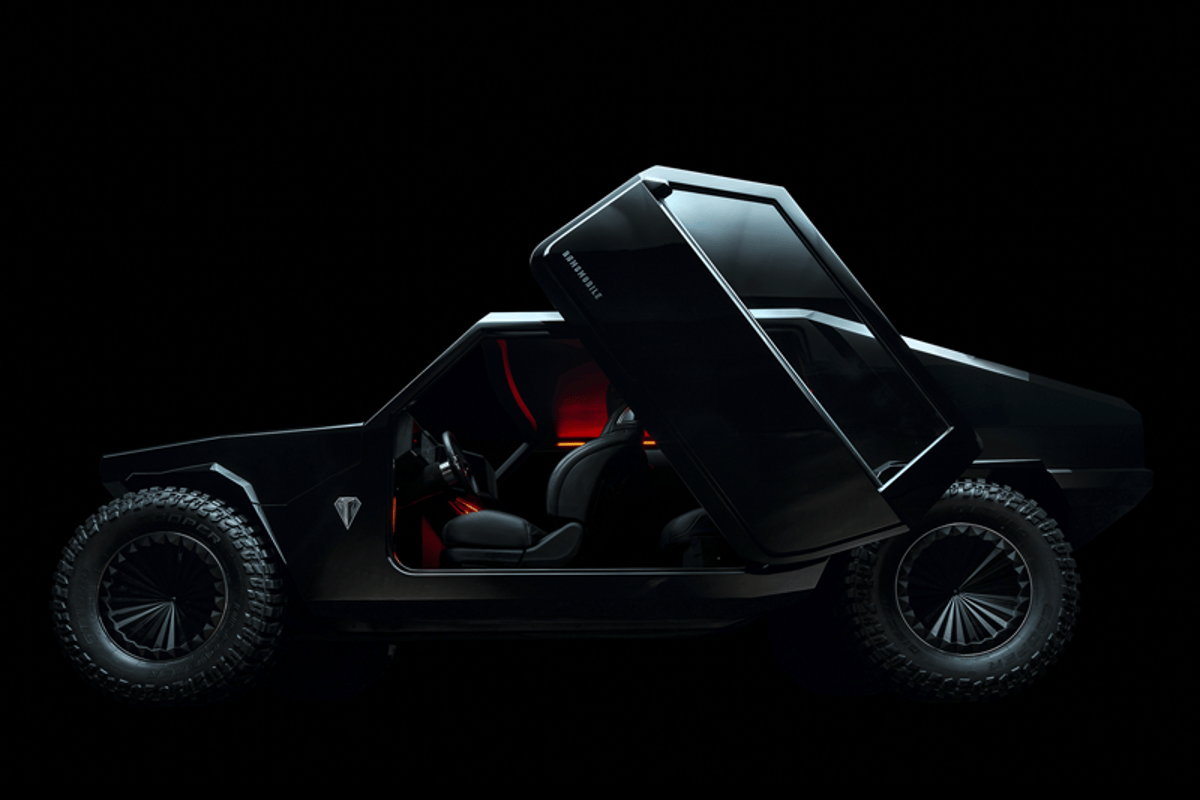 The RM-X2's doors pop out from the body and open upwards