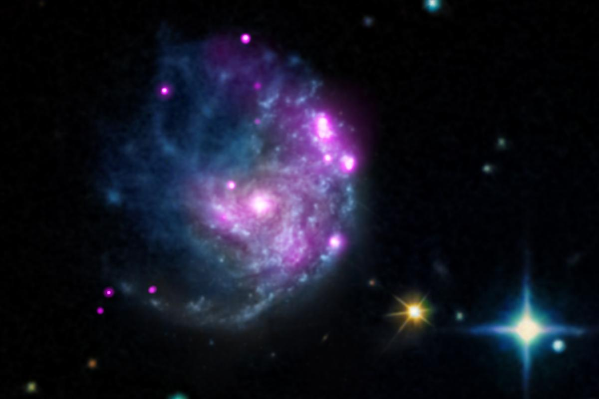 X-ray image of galaxy NGC 2276 (Image:NASA/CXC/SAO/M.Mezcua et al & NASA/CXC/INAF/A.Wolter)