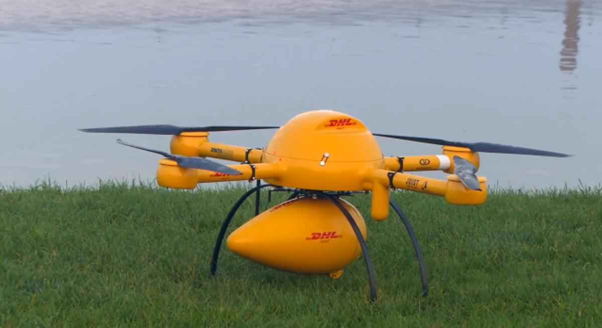 DHL's Parcelcopter can carry up to 1.2 kg (2.6 lb) of medication