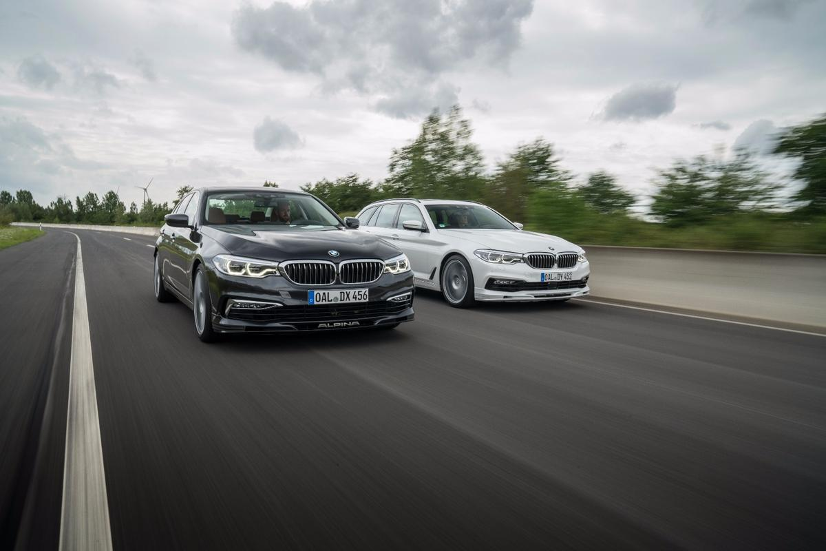 The Alpina D5 S is available in sedan or wagon form