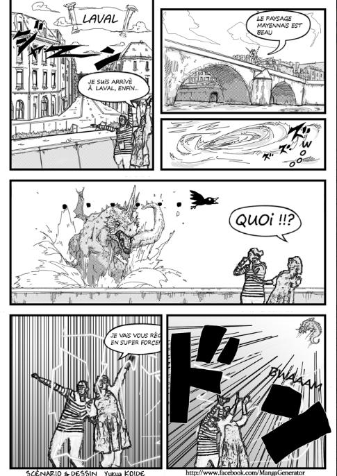 An image of a manga comic created by the Manga Generator (Image: Shirai Labs)