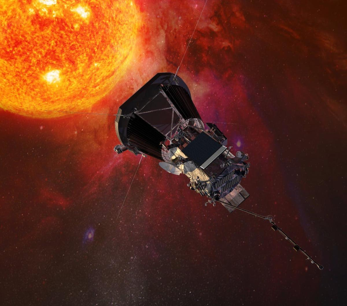 A rendering of NASA's Solar Parker Probe