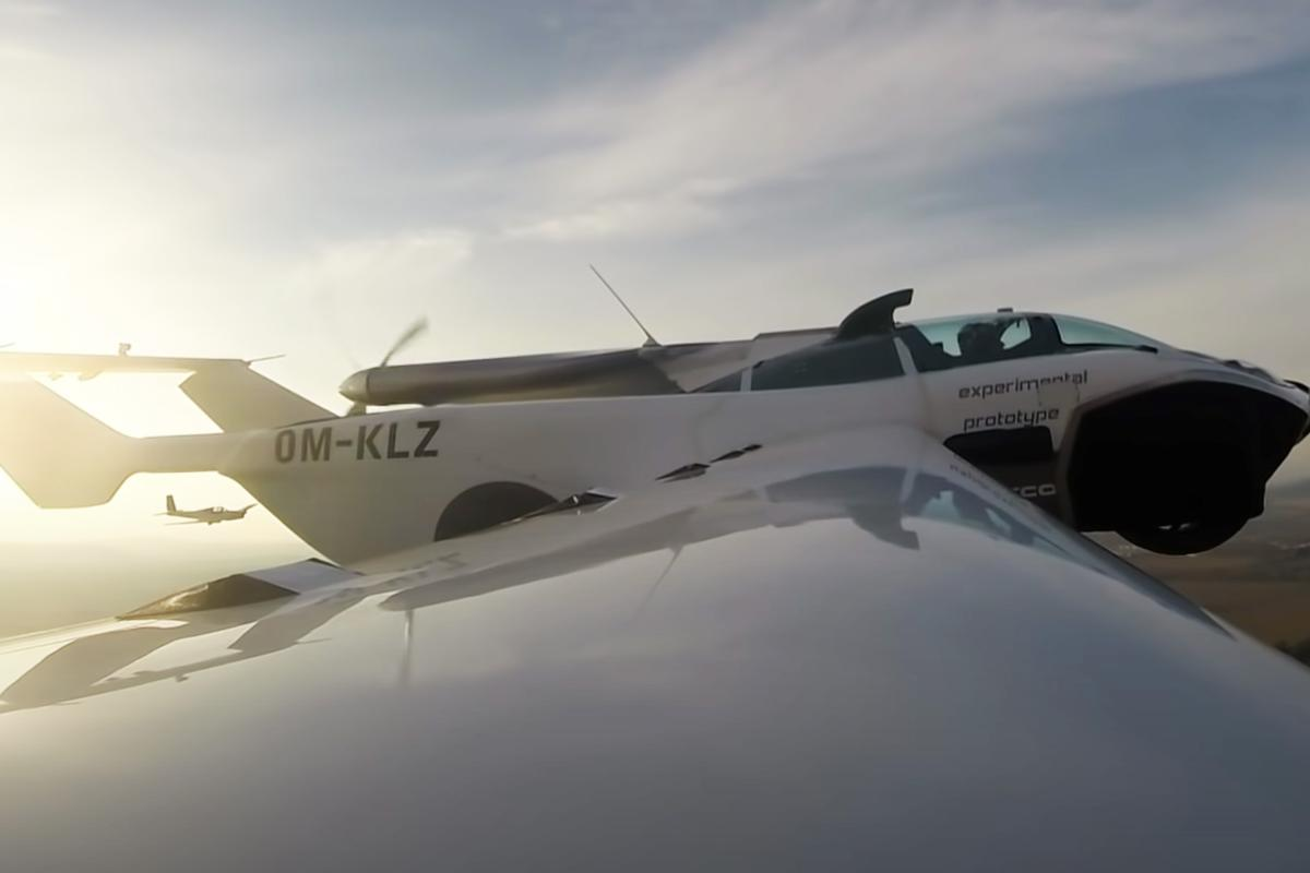 The Klein Vision AirCar on its maiden flight