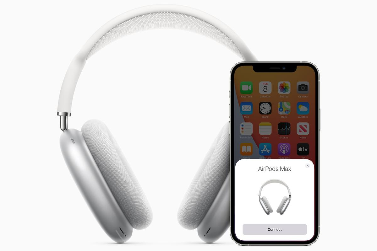 The AirPods Max headphones are reported to deliver high-fidelity audio, adaptive EQ, active noise cancellation and spatial audio