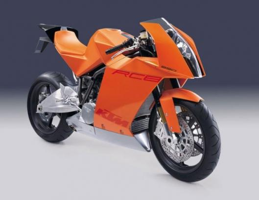 Early concept picture of the (then 990cc) KTM RC8.