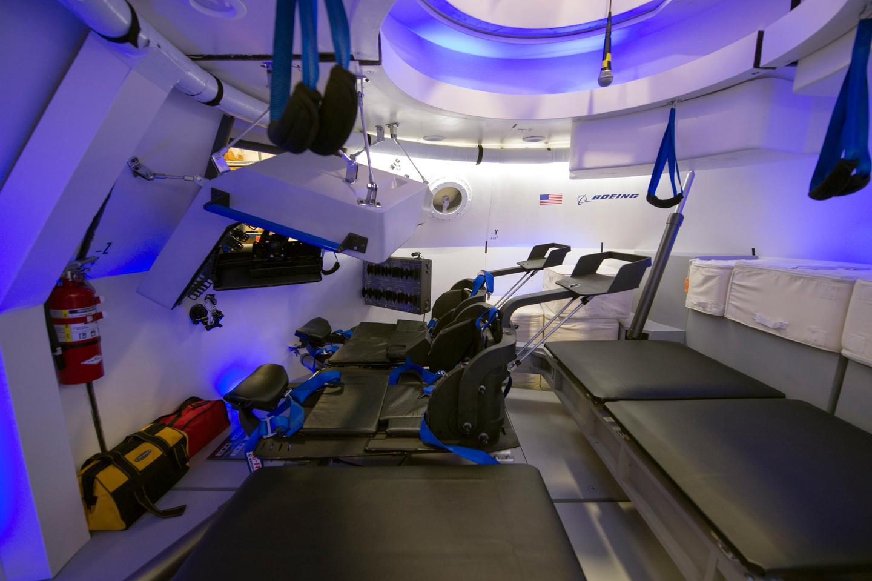 Interior of the CST-100 space capsule mock up (Photo: NASA/Robert Markowitz)