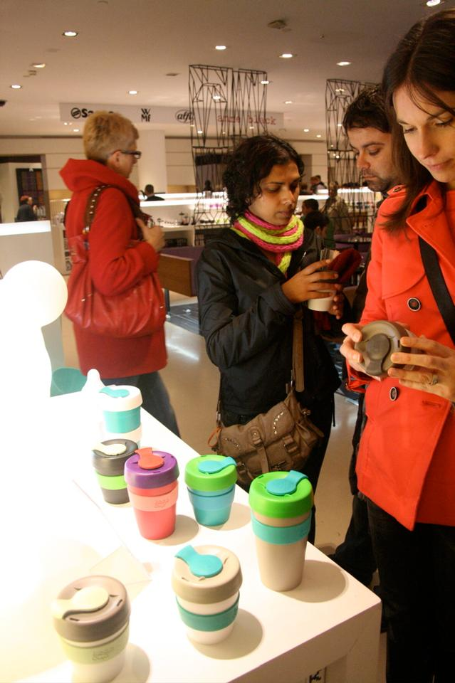 KeepCup, during the Milan Design Fair (image: Bridget Borgobello/Gizmag)