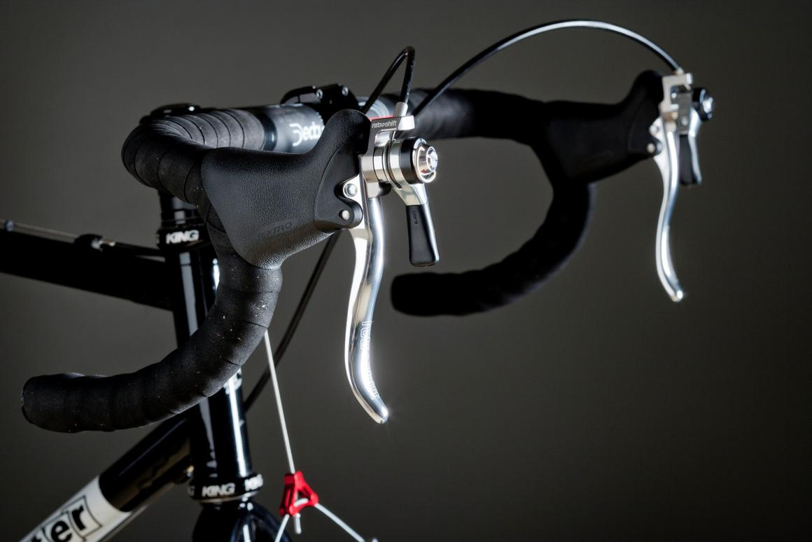 Retroshift's cyclocross brake levers incorporate bar-end-style shifters