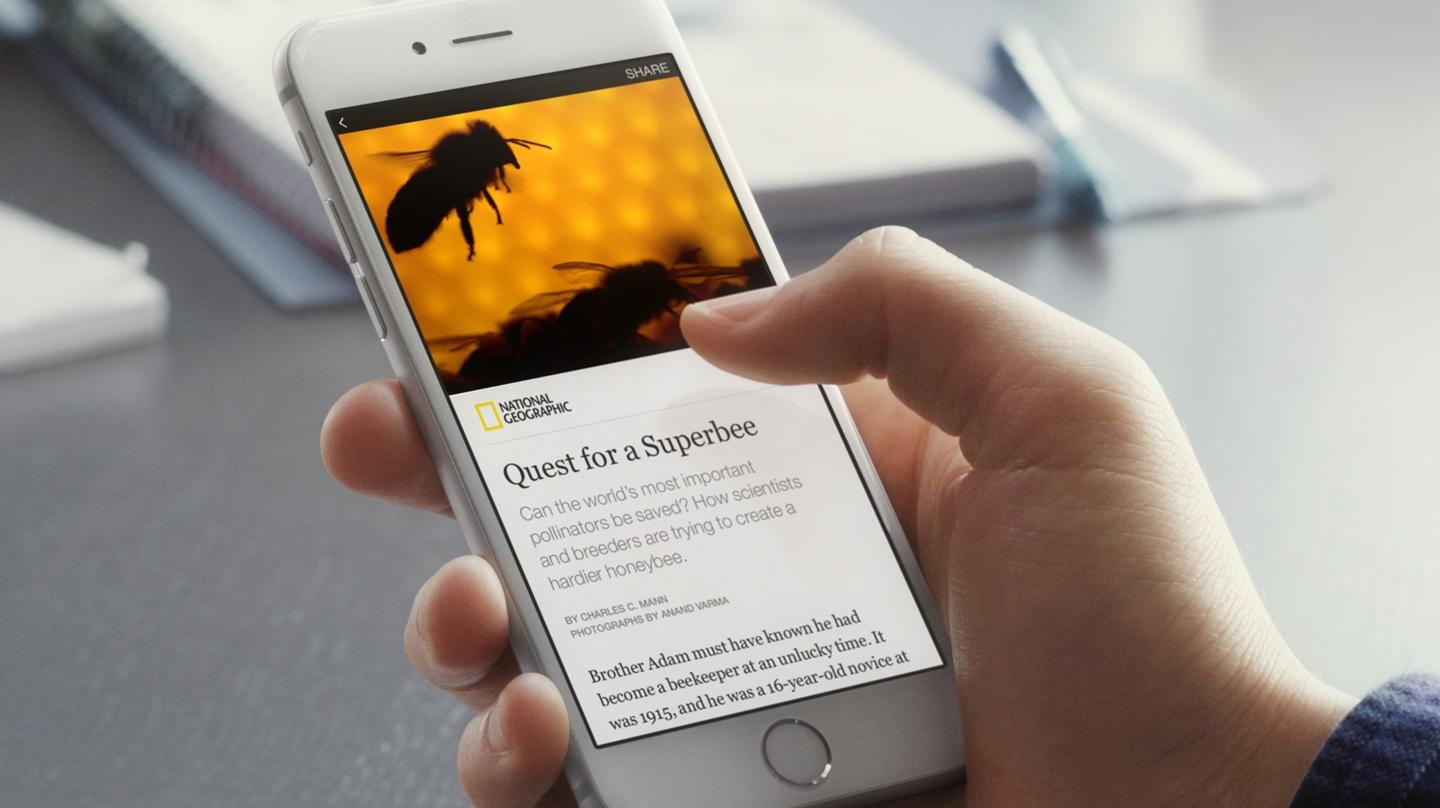 Facebook's Instant Articles are designed to be faster loading on mobile devices than articles hosted on external sites