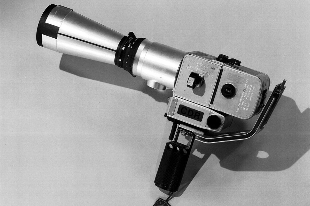 The 500mm lens was used on the Moon with a Hasselbald lunar camera similar to this one