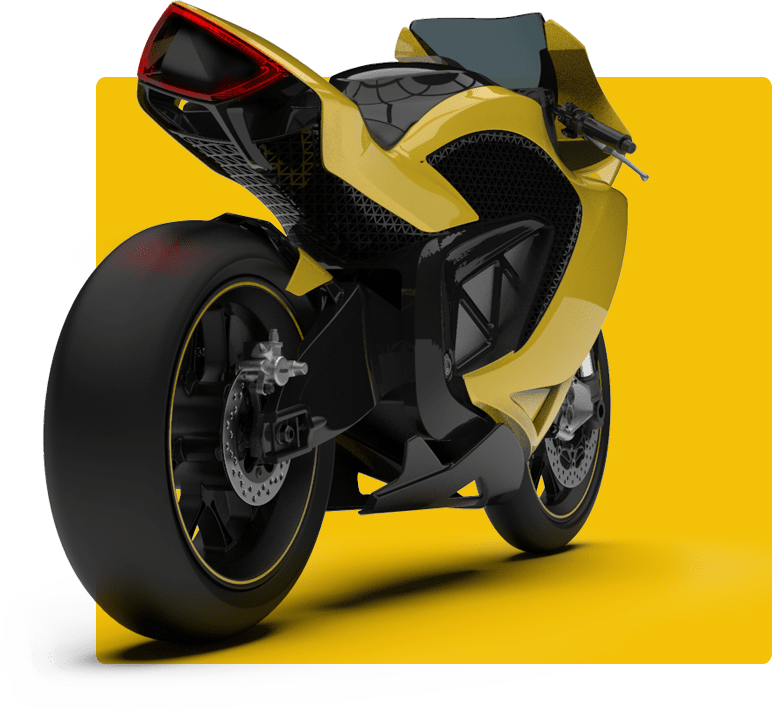 A render of Damon's upcoming electric motorcycle
