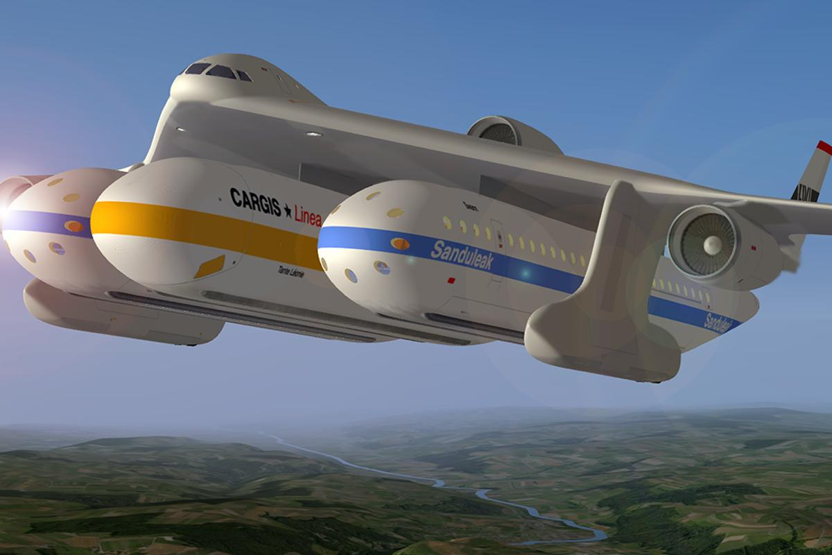 The Clip-Air combines air and rail transport elements